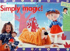 Craft Patterns, Knitting Patterns, Magic Roundabout, Alan Dart, Doll Toys, Dolls, Womans Weekly, Modern Toys, Dog Pattern