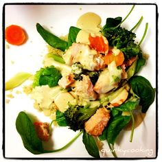 Quirky Cooking: Sesame Salmon & Vegetables with Creamy Tikka Sauce Seafood Dishes, Seafood Recipes, Cooking Recipes, Healthy Snacks, Healthy Eating, Healthy Recipes, Quirky Cooking, Recipes, Thermomix