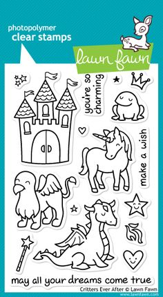 Lawn Fawn Critters Ever After...love this set...especially the dragon!