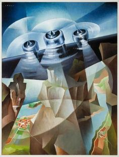 Tullio Crali - Superamento Futurism Art, Retro Futurism, Spanish Painters, Italian Painters, Italian Artist, Italian Futurism, Modernist Movement, Art Courses, Franz Marc