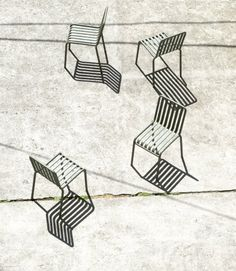 Palisade outdoor furniture collection by Ronan & Erwan Bouroullec for Hay. All pieces of the collection are made of standard tubes in steel  round for the frame and rectangular for the slats of the seat. This construction allows us to construct a wide range of typologies with a common formal language. From stools and benches to chairs and tables, lounge chairs and sofas - the collection comprises 13 different eleme