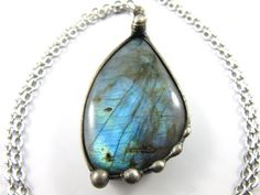 siren  blue labradorite pendant by callistojewelry on Etsy