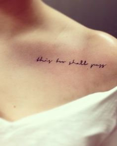 this too shall pass. | Tattoo Ideas Central