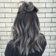 Metal Melt ... by @loveisinthehair_byjanet #behindthechair #ombrehair #colormelt #grayhair