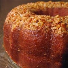 Golden Rum Cake.....i made this following the recipe, the second i went to make I had ran out of the Rum but had Malibu Cocunut Rum instead, OMG, even better and I used cocunut flakes instead if the nuts!!! To die for, i have made 3 times in the past 2 weekends!!!