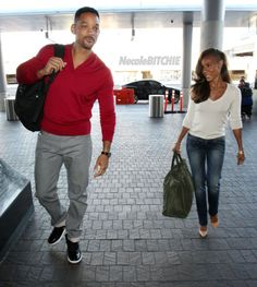Will Smith and Jada Pinkett Smith arrive at LAX Airport