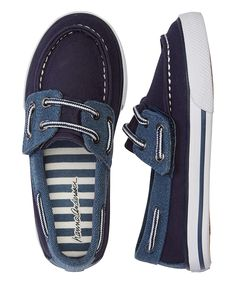 Look what I found on #zulily! Navy Nils Boat Shoe by Hanna Andersson #zulilyfinds