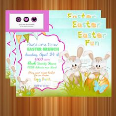 Easter Egg Hunt Invitation - Printable Easter Invitation - Easter