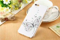 Edele Weiß-Schwarz Handyhülle aus Kunststoff für iPhone 6/6 Plus - spitzekarte.com