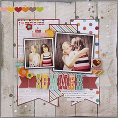 Simple Stories I {Heart} Summer scrapbook layout by Gail Lindner