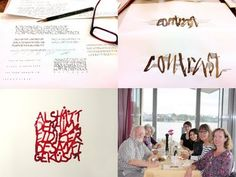 "Review (in german language) of the third week of summer academy ""Pentiment"" in the calligraphy class of Peter Thornton. August 2011, Hamburg."