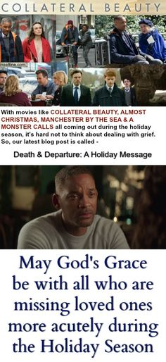 #CollateralBeauty #moviereview #griefduringtheholidays #Chistmasmovies #Holidays2016 #movieblog fear of losing a loved one  preparing to pass over.