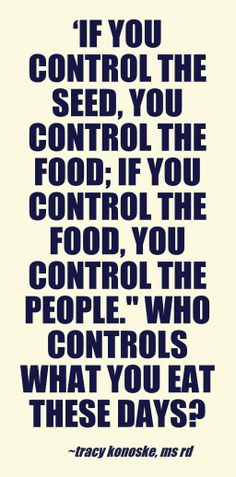 Do you know who controls your food?