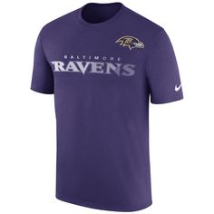 e4bde8678b1ca Men s Nike Black Baltimore Ravens Sideline Legend Team Performance T-Shirt