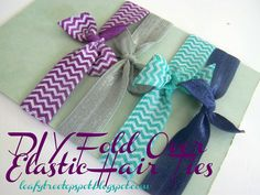 Tutorial: DIY Fold Over Elastic Hair Ties - Made by Me. Shared with you.