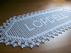 New Crocheted Name Doillypersonalized doily by MyDreamCrochets, $24.00