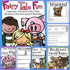 This fairy tale unit is great fun! Featuring Jack and the Beanstalk, Goldilocks and The Three Little Pigs. Includes plays. puppets and lots of activities.