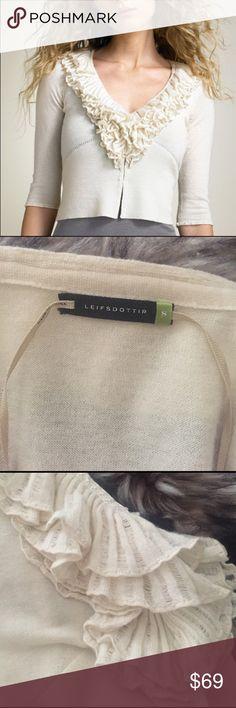 "Anthropologie Leifsdottir Cashmere Crop Cardigan S This is a beautiful Anthropologie Leifsdottir Cashmere Cardigan Sweater. Size small cream color. 98% Cashmere 2% wool. Bust 32"" waist 31"" length 21"". No flaws. Never worn. Anthropologie Sweaters Cardigans"