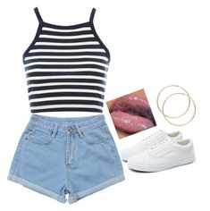 """""""Untitled #4"""" by melaninmiya on Polyvore featuring Topshop and Vans"""