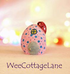 Pink Easter Egg House, Mini Egg House, Mini Easter House, Tiny House,  Mini Cottage,  Wee Cottage Lane, Tiny Home, Miniature Home
