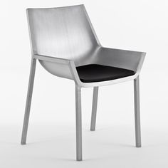 Sezz Collection by Christophe Pillet   for Emeco. The series of five chairs were originally created for a hotel in St.Tropez and they feature handmade recycled aluminium shells with or without upholstery pads.