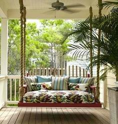 Swaying on a porch swing or glider and taking in the fresh air.