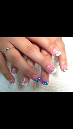 Amazing Tips For The Best Summer Nails – NaiLovely July 4th Nails Designs, Blue Nail Designs, 4th Of July Nails, French Nail Designs, Art Designs, French Nails, Usa Nails, Patriotic Nails, Cute Nail Art