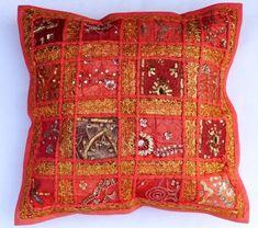 Cotton Handmade Patchwork Cushion Cover Home Decor Pillow Cases KH070 #Handmade #Ethnic
