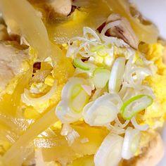 冷蔵庫にあった鶏肉と玉ねぎで、ささっと作りました✨ ささみと玄米ご飯でヘルシー - 7件のもぐもぐ - 簡単♪親子丼 by namiy0919