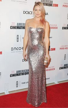 Kate Hudson in Jenny Packman dress; Edie Parker Fiona Faceted Clutch - American Cinematheque red carpet