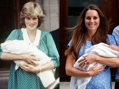 The mothers of two future Kings introduce their sons to the world. The Princess of Wales introduced Prince William Arthur Phillip Louis on June 22, 1982 and The Duchess of Cambridge introduced Prince George Alexander Louis on July 23, 2013.