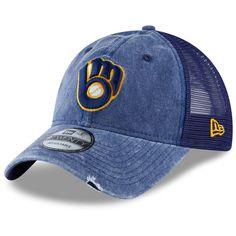 finest selection c9055 f8c1d Men s Milwaukee Brewers New Era Navy Tonal Washed Trucker 2 9TWENTY  Adjustable Snapback Hat,  25.99