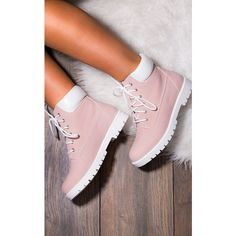 SpyLoveBuy Morgan Lace Up Flat Ankle Boots Shoes   Pink Nubuck Leather... ($35) ❤ liked on Polyvore featuring shoes, boots, ankle booties, short flat boots, flat ankle booties, pink booties, ankle boots and pink boots