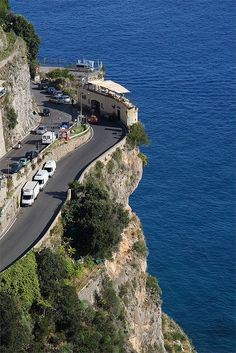 "yourcoffeeguru: "" A Scenery Coffee Shop Along The Amalfi Coast Road, Italy I want to go there! """