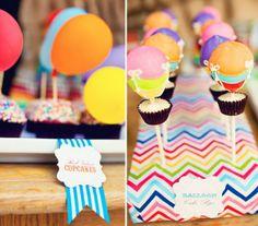 Cupcakes con globos - DEF Deco | Decorar en familia