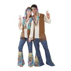 NEW WOMENS ADULT HIPPIE WOMAN 60s 70s COUPLES HALLOWEEN Costume one size | eBay