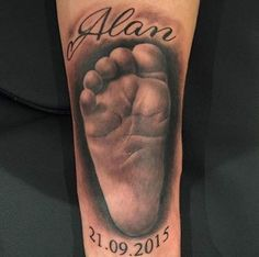 Hyperrealism Baby Foot Tattoo by Slawek Sadowski