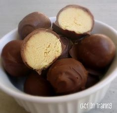 No Bake Cake Batter Truffles made with Duncan Hines Yellow cake mix by Chef-In-Training.