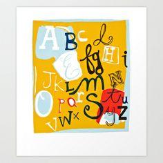 Alphabet Art Print by Emily Rickard - $15.00