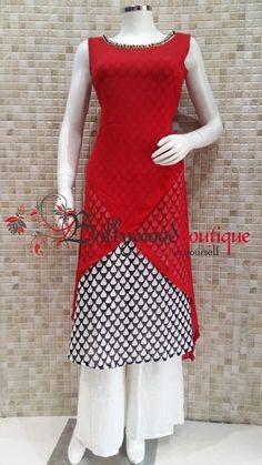 Layered Style Designer Kurti With the Twist Of Cuts & Curves         Salwar Pattern, Kurti Patterns, Dress Patterns, India Fashion, Ethnic Fashion, Indian Dresses, Indian Outfits, Kurti Styles, Churidar Designs