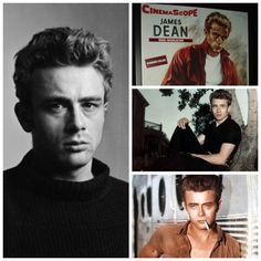 James Dean (absolutely amazing actor) in his 3 films: Rebel Without a Cause, East of Eden, and Giant
