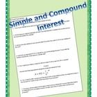 This is a 10 question worksheet (or quiz) that has both simple I=PRT problems and compound interest problems.  I have included the compound interes...