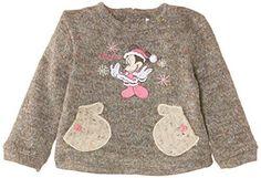 Disney-Minnie-Mouse-NH0064-Sweat-shirt-Bebe-fille-Gris-Light-Grey-Mel
