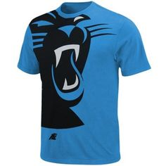 carolina panthers big logo on shirt | Carolina Panthers Blind Pass T-Shirt - Carolina Blue