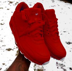 Nike Air Max 90 Red Sneaker Sneakers Fashion e0610fdf4