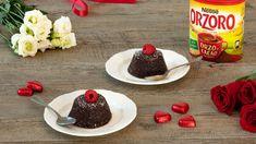 Tortino di Orzoro Orzo e Cacao con cuore liquido al cioccolato, ricetta Orzo, Cacao, Pudding, Desserts, Food, Gastronomia, Tailgate Desserts, Deserts, Custard Pudding