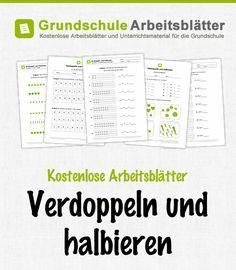 Kostenlose Arbeitsblätter und Unterrichtsmaterial zum Thema Verdoppeln und Halbieren im Mathe-Unterricht in der Grundschule.