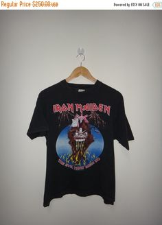 9c24d8fefcf Christmas Sale Vintage Iron Maiden The Evil That by TwistedFabrics Iron  Maiden T Shirt
