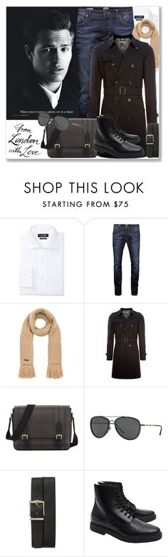 """""""Celeb Style: Ansel Elgort"""" by coraline-marie ❤ liked on Polyvore featuring Prada, Lauren Ralph Lauren, Jack & Jones, Burberry, Common Projects, men's fashion and menswear"""