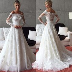 Nice 2018 Off shoulder Wedding Dress Bridal Gown Custom Size : 4 6 8 10 12 14 16 18++ 2017-2018 Check more at http://fashion-look.top/product/2018-off-shoulder-wedding-dress-bridal-gown-custom-size-4-6-8-10-12-14-16-18-2017-2018/